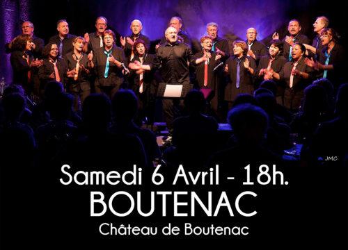 Concert à Boutenac le 6 avril 2019