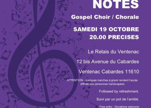 Concert à Ventenac Cabardès le 19 octobre 2019
